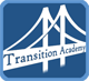 "Transition Academy logo: bridge with the words ""Transition Academy"""